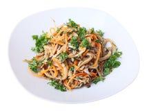 Салат с грибами устрицы Стоковое Фото