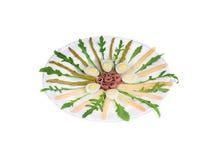 Салат с камсами и спаржей Стоковое Фото