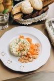 Салат с креветками стоковое изображение