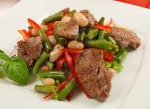 Салат с мясом и овощами Стоковое Фото