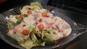 Салат с мясом тунца в еде меню Таиланда Стоковое фото RF