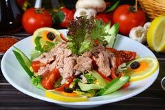 Салат с мясом тунца Стоковые Изображения RF