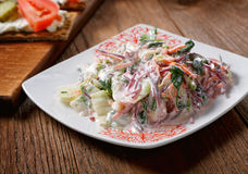 Салат с овощами и tartlets Стоковая Фотография RF