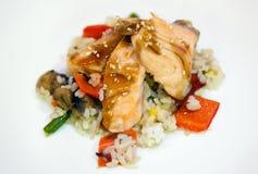 Салат с рыбами Стоковые Изображения