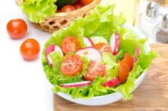 Салат с свежими овощами и ингридиентами для крупного плана салата Стоковое Фото