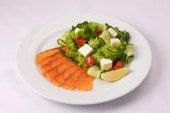 Салат с семгами и овощами Стоковая Фотография RF