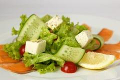Салат с семгами и овощами Стоковое Изображение RF