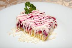 Салат с сельдями 2 Стоковые Изображения RF