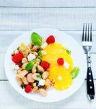 Салат с фасолями и козий сыром Стоковое Изображение RF