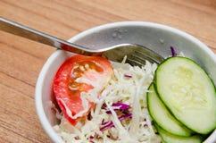 Салат томата, огурца и капусты Стоковое Изображение RF