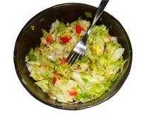 Салат, томат и лук Стоковое Фото