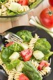 Салат шпината и макаронных изделий rotini Стоковая Фотография RF
