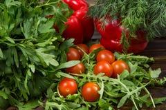 Салат Arugula с томатами Стоковое фото RF