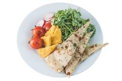 Салат Paneer с chapati и томатами Стоковое Изображение RF