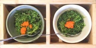 Салат seaweed Wakame Стоковое Изображение