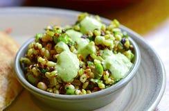 Салат Superfood крупного плана здоровый с богатой квиноа протеина Стоковая Фотография RF