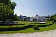 Сад Братислав-президентского дворца, Братиславы, Словакии Стоковое фото RF