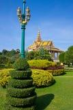Сад дворца королей Пномпень Стоковое Фото