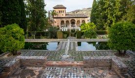 Сад в Альгамбра Стоковое Изображение RF