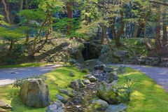 сад Дзэн на виске Daigoji Стоковая Фотография