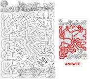 Сад зайчика иллюстрация вектора