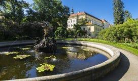 Сад замка (ЮНЕСКО) в Kromeriz Стоковые Фото
