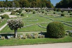 Сад замка Chenonceau в Франции стоковая фотография