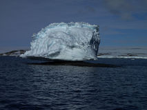 Садить на насест айсберг Антарктика Стоковая Фотография RF