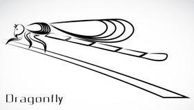 Садить на насест Dragonfly Стоковые Изображения