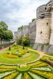 Сад и бастионы крепости внутри злят стоковая фотография rf