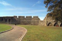 Сад или земля замка Rochester в Англии Стоковое Фото