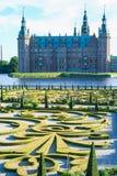 Сад и парк замка Hillerod стоковая фотография