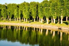 Сад и парк замка Hillerod стоковые фотографии rf