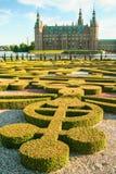 Сад и парк замка Hillerod стоковые изображения