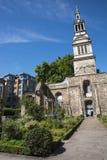 Сад Крайстчёрча Greyfriars в Лондоне Стоковая Фотография