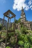 Сад Крайстчёрча Greyfriars, Лондон, Великобритания Стоковое Изображение