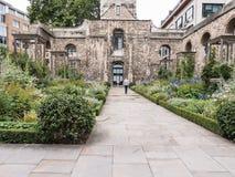 Сад Крайстчёрча Greyfriars, Лондон, Стоковая Фотография RF