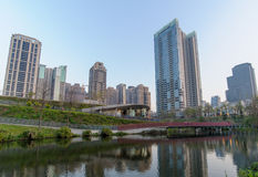 Сад клена в городе taichung Стоковые Фото