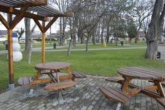 Сад мебели в занятности парка Стоковое Изображение RF