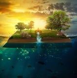 Сад на библии стоковое изображение rf