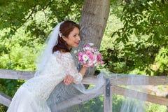 сад невесты счастливый Стоковая Фотография