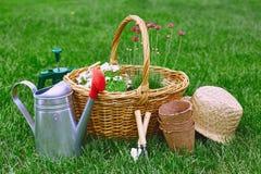 садовничать цветков оборудования Стоковое Фото