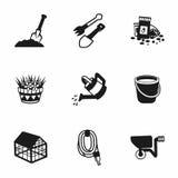 садовничая вектор иконы установленный Стоковое Фото