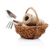 Садовые инструменты с овощем саженцев, Стоковые Изображения RF