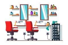 Салон или парикмахерская парикмахерских услуг красоты женщины Стоковое Изображение
