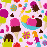 Салон мороженого Стоковое Фото