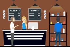 Салон парикмахерскаи внутрь Стоковые Фото