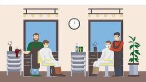 Салон парикмахерскаи внутрь Стоковая Фотография RF