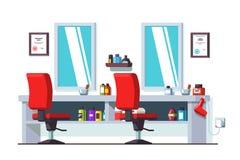 Салон парикмахерских услуг красоты парикмахерской и человека Стоковое фото RF