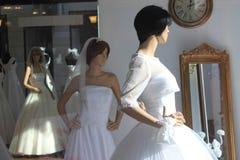 Салон платья свадьбы Стоковое Фото